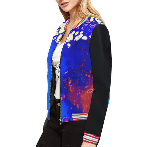 trois fleurs jacket All Over Print Bomber Jacket for Women (Model H21)