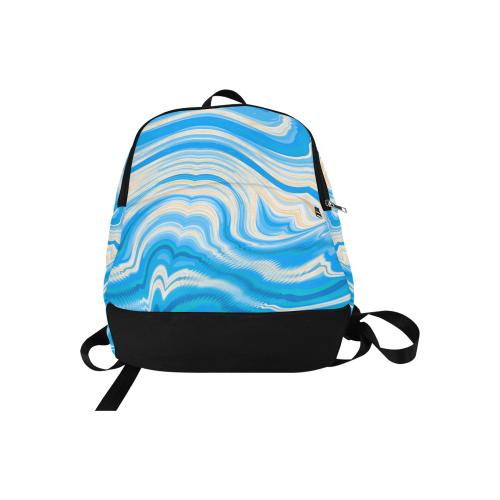 Ocean Blue Fabric Backpack for Adult (Model 1659)
