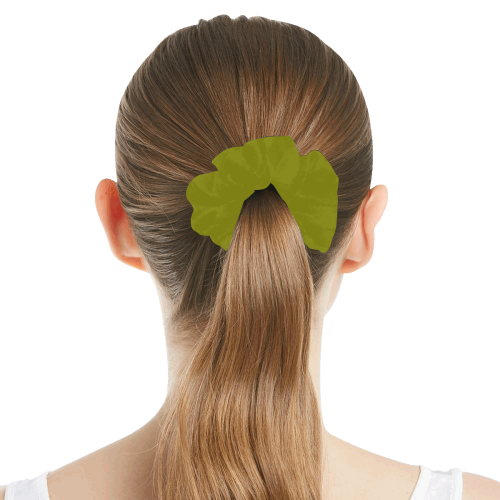 color olive All Over Print Hair Scrunchie