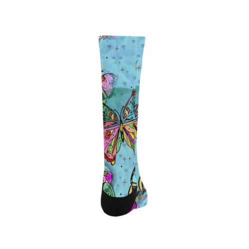 Butterfly Popart by Nico Bielow Trouser Socks (For Men)