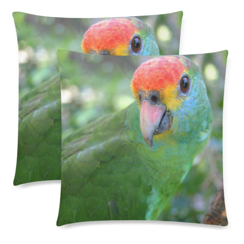 """Red Brow Pillow Custom Zippered Pillow Cases 18""""x 18"""" (Twin Sides) (Set of 2)"""