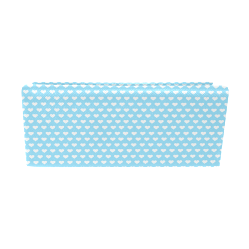 Baby Blue Hearts Custom Foldable Glasses Case
