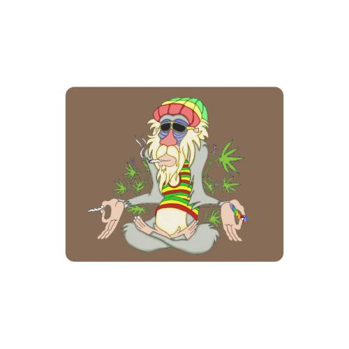 Hippie Ganja Guru Brown Rectangle Mousepad