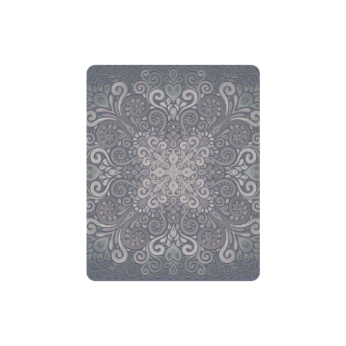 Vintage Ornate Gray - Green Powder Shades Mandala Rectangle Mousepad