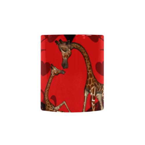 Giraffe mum with baby Custom Morphing Mug (11oz)