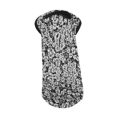 Black And White Abstract Neoprene Wine Bag