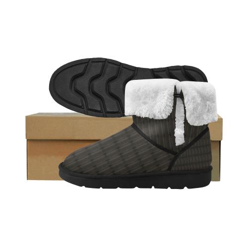 Unsueded Unisex Single Button Snow Boots (Model 051)