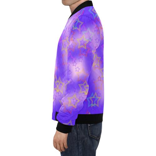 stars beauty All Over Print Bomber Jacket for Men (Model H19)