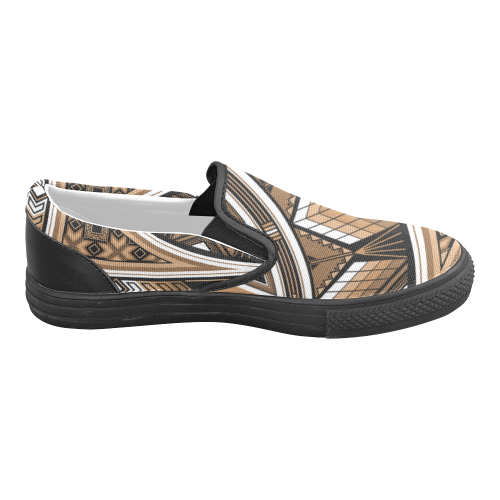 Sacred Places Brown Men's Slip-on Canvas Shoes (Model 019)