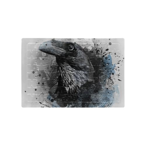 crow raven bird art #crow #raven A4 Size Jigsaw Puzzle (Set of 80 Pieces)