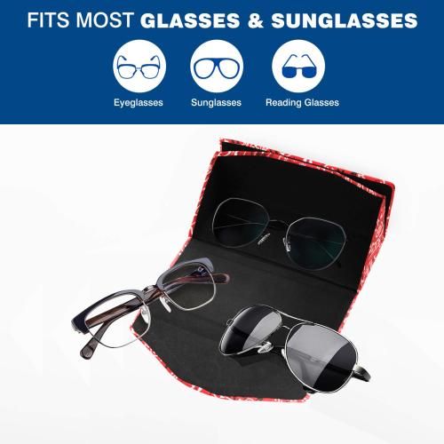 Bandana Squares Pattern Custom Foldable Glasses Case