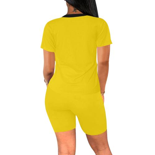 color gold Women's Short Yoga Set (Sets 03)