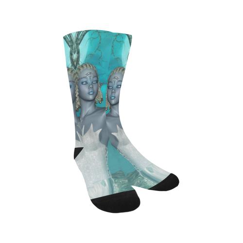 Wonderful fairy with bird Trouser Socks (For Men)