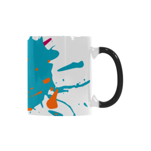 3 Splashes red petrol orange Custom Morphing Mug (11oz)