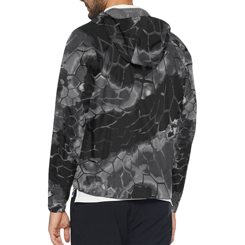 black dragon animal snake skin pattern Unisex All Over Print Windbreaker (Model H23)