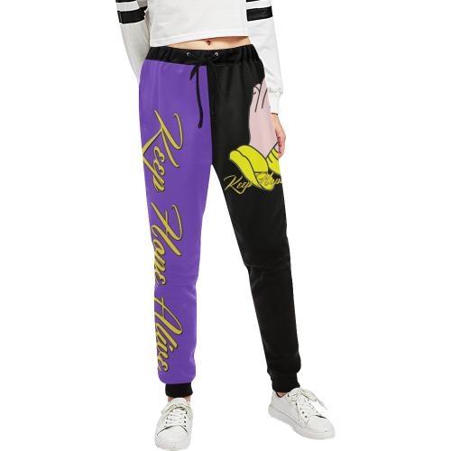 Keep Hope Alive Hands split Unisex All Over Print Sweatpants (Model L11)