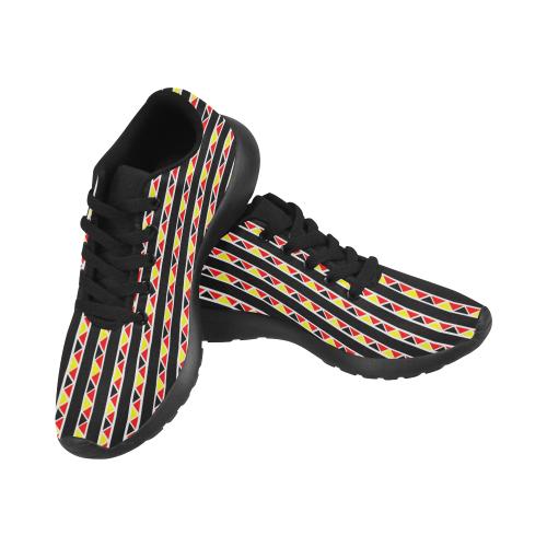 Kente Stripes Women's Running Shoes (Model 020)