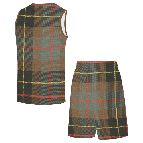 BRODIE HUNTING WEATHERED TARTAN All Over Print Basketball Uniform
