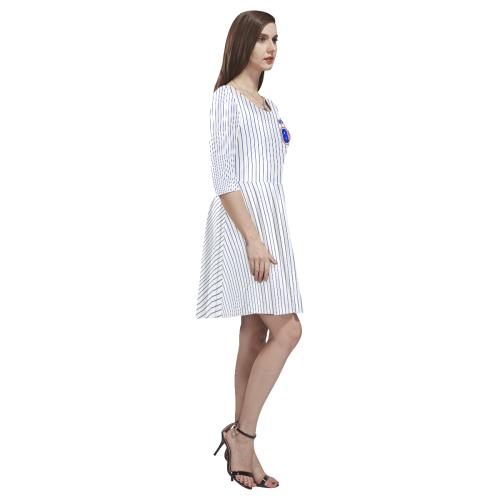 No. 1 Vegan Tethys Half-Sleeve Skater Dress(Model D20)