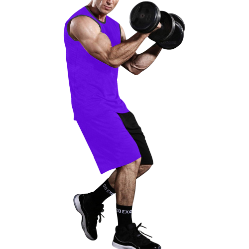 Purple and Black Number 13 Team Basketball Uniforms All Over Print Basketball Uniform
