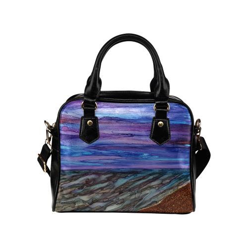 Night Beachscape Shoulder Handbag (Model 1634)
