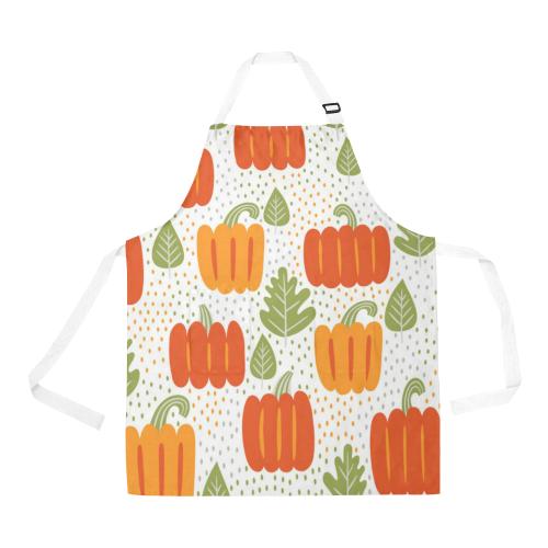 Cool Pumpkins All Over Print Apron