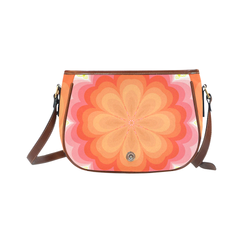 Spring Blossom Saddle Bag/Large (Model 1649)