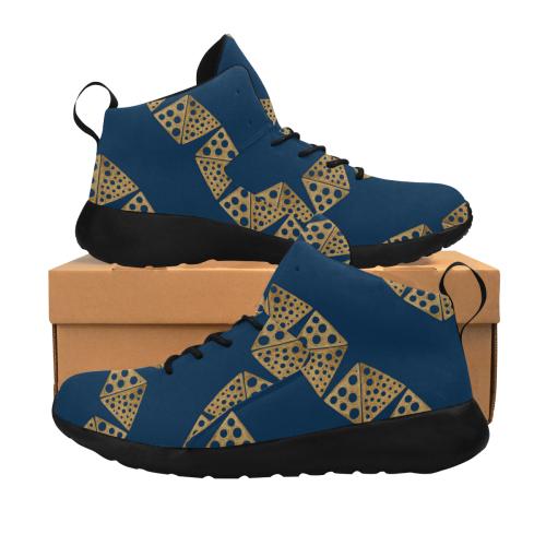 Shoes : blue, gold blocks Women's Chukka Training Shoes/Large Size (Model 57502)