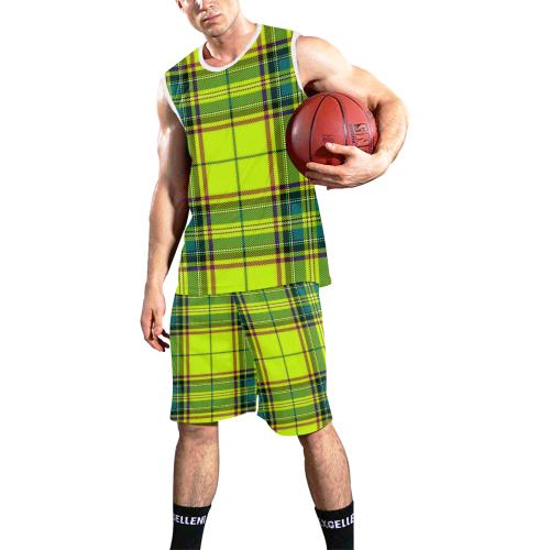 YELLOW TARTAN-4 All Over Print Basketball Uniform