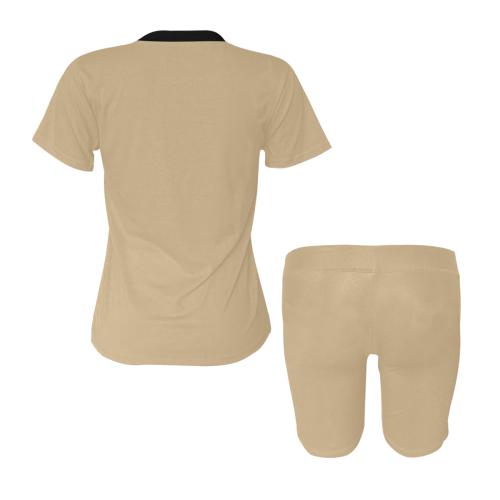 color tan Women's Short Yoga Set (Sets 03)
