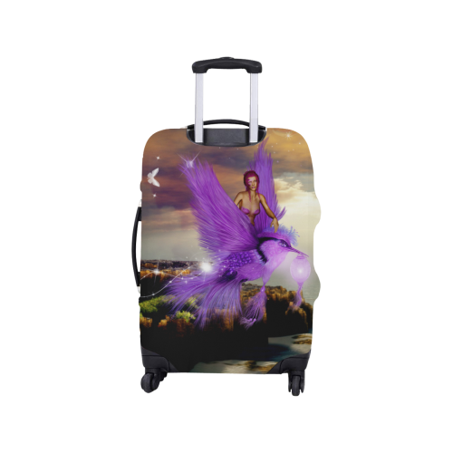 """Wonderful fairy with bird Luggage Cover/Small 18""""-21"""""""