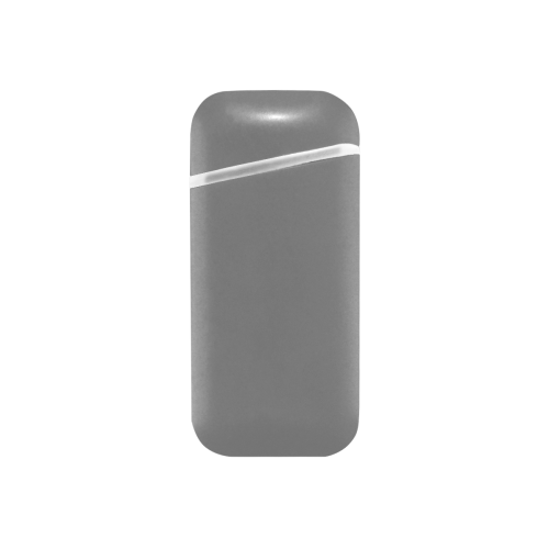 color grey Curved Edge USB Lighter (Lateral Button)
