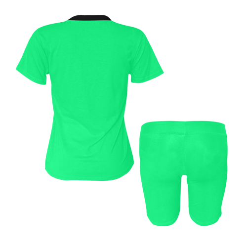 color spring green Women's Short Yoga Set (Sets 03)