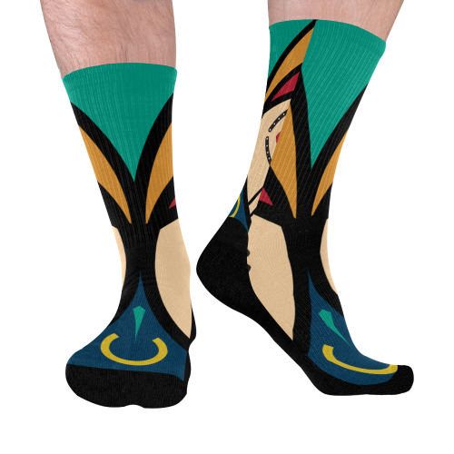 round luba Mid-Calf Socks (Black Sole)