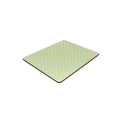 Pastel Lime Orange Crisscross Stripes Rectangle Mousepad