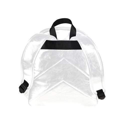 TDS White Multi-Pocket Backpack PU Leather Multi-Pockets Backpack (Model 1636)