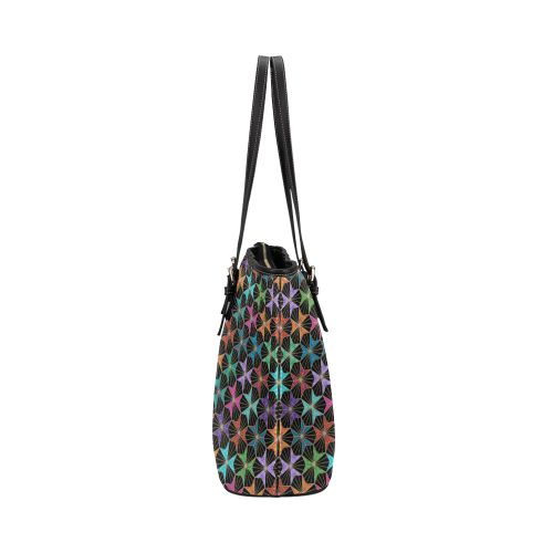 Tri Hexas Leather Tote Bag/Small (Model 1651)