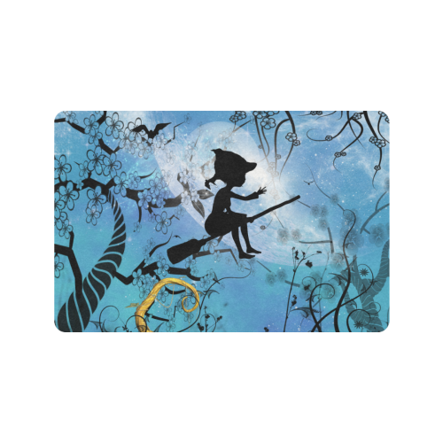 "Cute flying witch Doormat 24""x16"" (Black Base)"