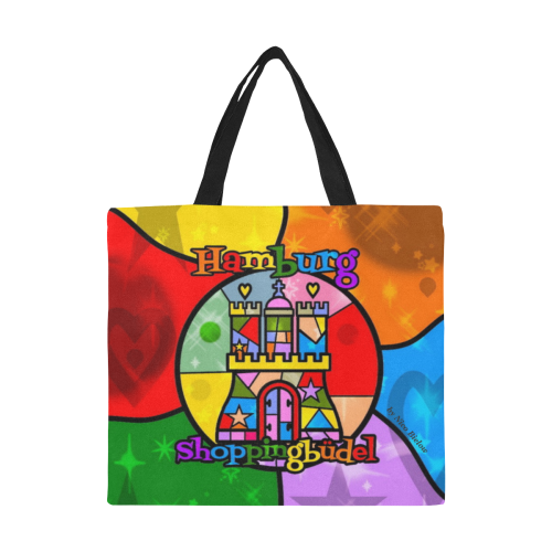 Hamburg Shoppingbüdel by Nico Bielow All Over Print Canvas Tote Bag/Large (Model 1699)