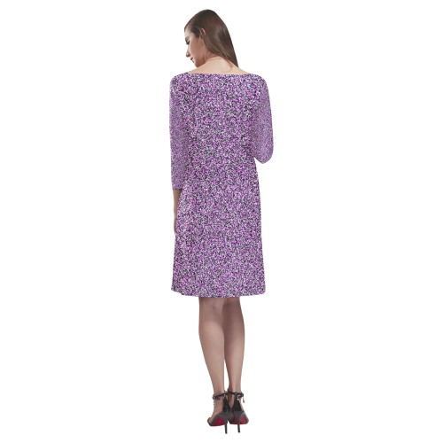 Composition Pink Rhea Loose Round Neck Dress(Model D22)