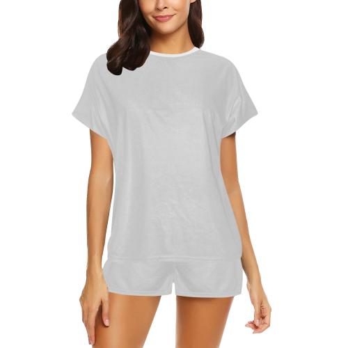color light grey Women's Short Pajama Set (Sets 01)