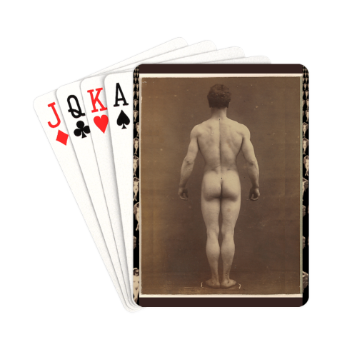 "The Man Playing Cards 2.5""x3.5"""