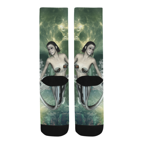 Awesome mermaid in the deep ocean Trouser Socks (For Men)
