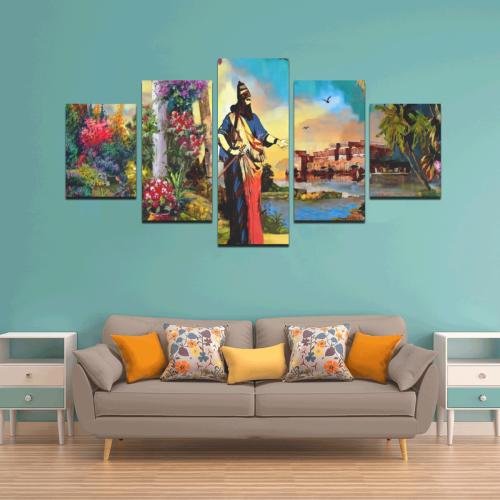 Babylon King Canvas Wall Art Z (5 pieces)