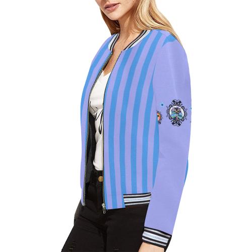 Sleeves_L All Over Print Bomber Jacket for Women (Model H21)