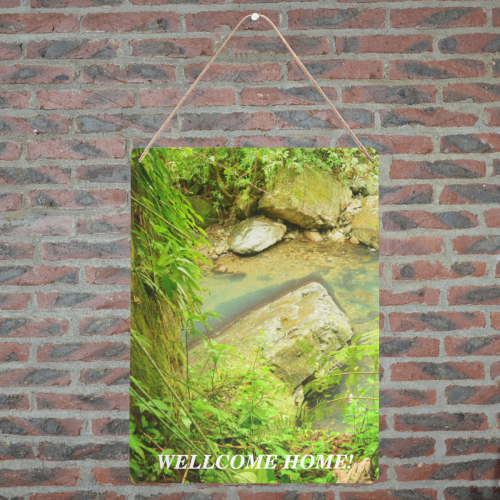 "Yunque river pond - wellcome home - DSC_3443 Metal Tin Sign 12""x16"""