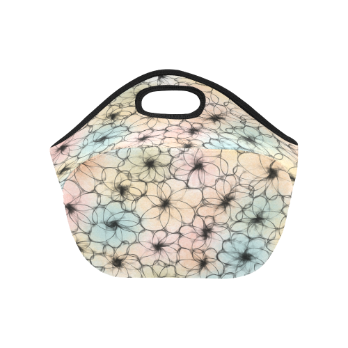 Pastel Flowers. Inspired by the Magic Island of Gotland. Neoprene Lunch Bag/Small (Model 1669)
