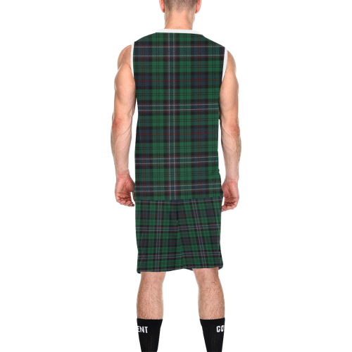 Scottish National Tartan All Over Print Basketball Uniform