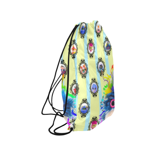 """PopArt_Rhinestone Medium Drawstring Bag Model 1604 (Twin Sides) 13.8""""(W) * 18.1""""(H)"""