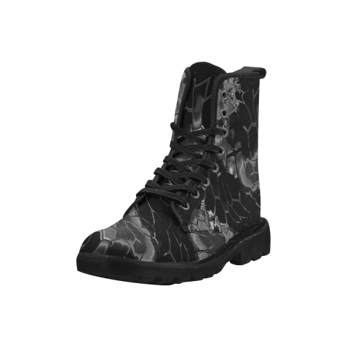 dark animal print design camouflage Martin Boots for Women (Black) (Model 1203H)